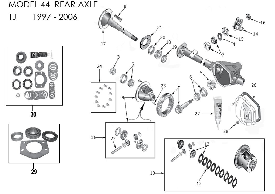 wheel bearing  rear axle  83503064