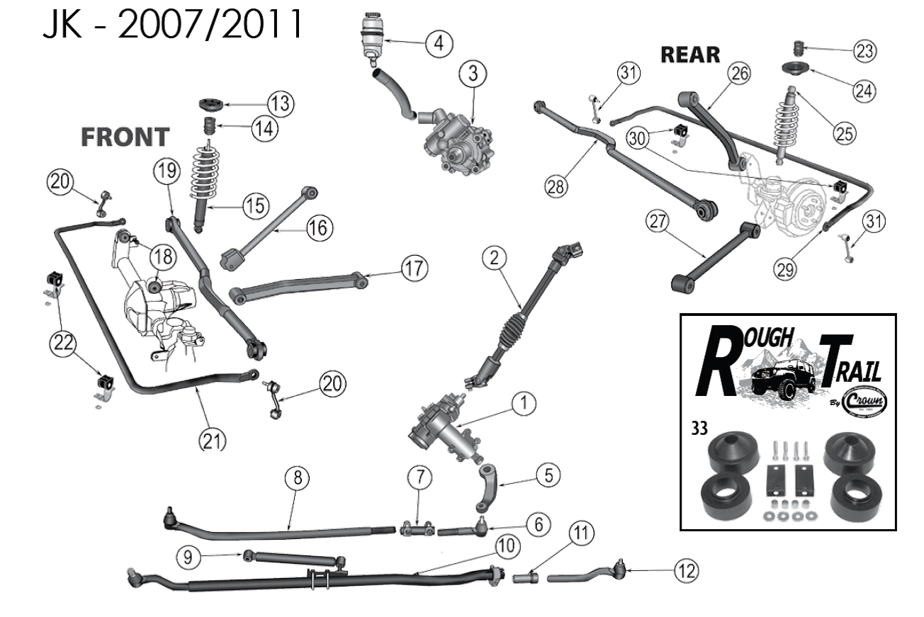 2004 Jeep Wrangler Suspension Diagram Wiring Diagrams 2007 Grand Cherokee Radio Ball Joint Html Front Sway Bars Emissions