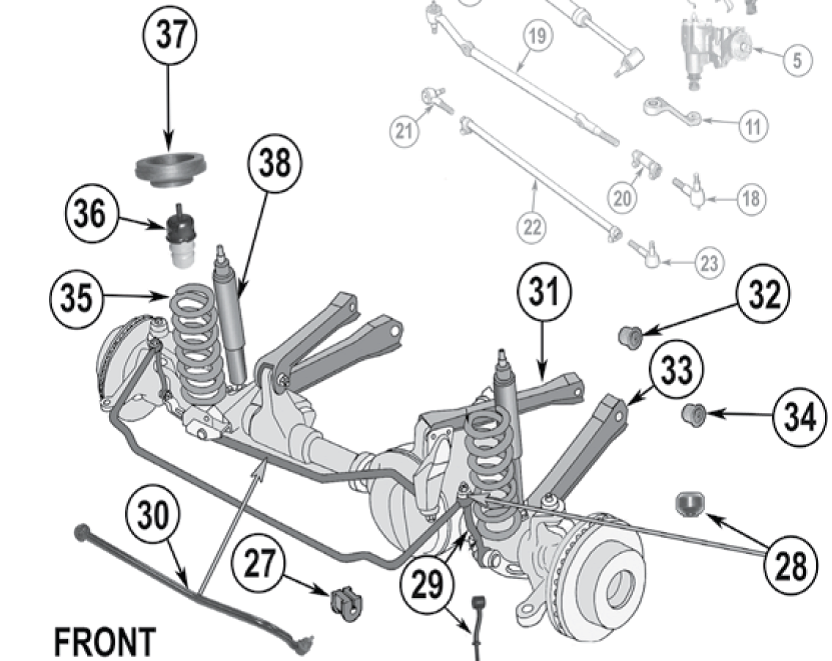1  the sway bar twists to limit body roll  when cornering one link pushes  up on the respective sway bar link and the other one pulls down